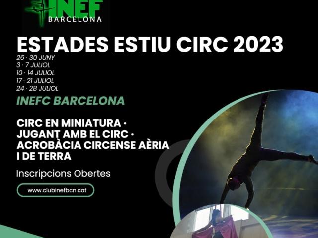 Estades d'Estiu de Circ a INEF Barcelona