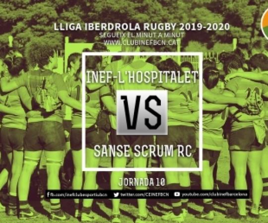 Minut a minut: INEF-L'Hospitalet vs Sanse Scrum RC, 10ª Jornada Lliga Iberdrola 2019-2020