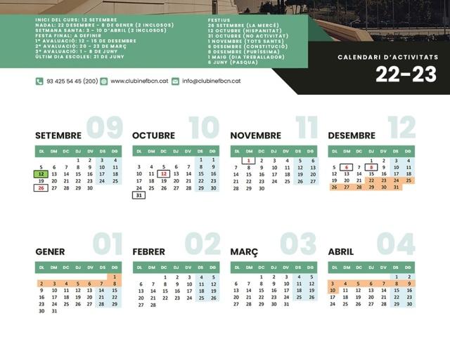 Calendari Escoles Esportives